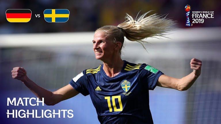 ویدئو | سوئد ۲-۱ آلمان | جام جهانی فوتبال زنان