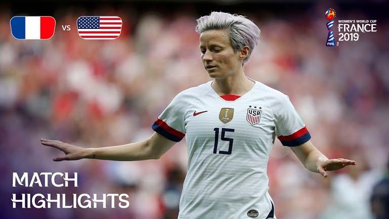 ویدئو | آمریکا ۲-۱ فرانسه | جام جهانی فوتبال زنان