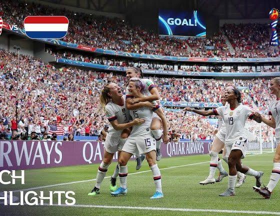 usa vs netherlands fifa womens world cup final 560x432 ویدئو   آمریکا 2 0 هلند   فینال جام جهانی فوتبال زنان 2019