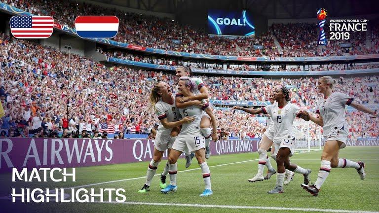 usa vs netherlands fifa womens world cup final ویدئو | آمریکا 2 0 هلند | فینال جام جهانی فوتبال زنان 2019