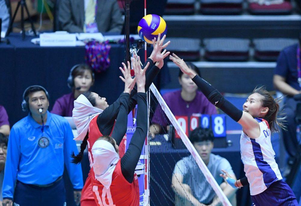ایران چین تایپه والیبال قهرمانی زنان آسیا 1 1000x687 گزارش تصویری | دیدار ایران و چین تایپه در والیبال زنان آسیا