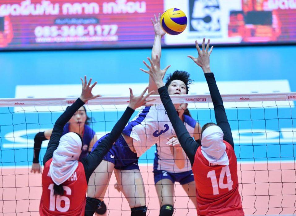 ایران چین تایپه والیبال قهرمانی زنان آسیا 10 957x700 گزارش تصویری | دیدار ایران و چین تایپه در والیبال زنان آسیا