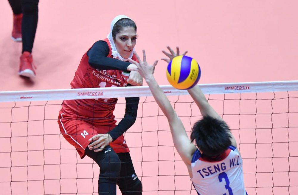 ایران چین تایپه والیبال قهرمانی زنان آسیا 11 1000x656 گزارش تصویری | دیدار ایران و چین تایپه در والیبال زنان آسیا