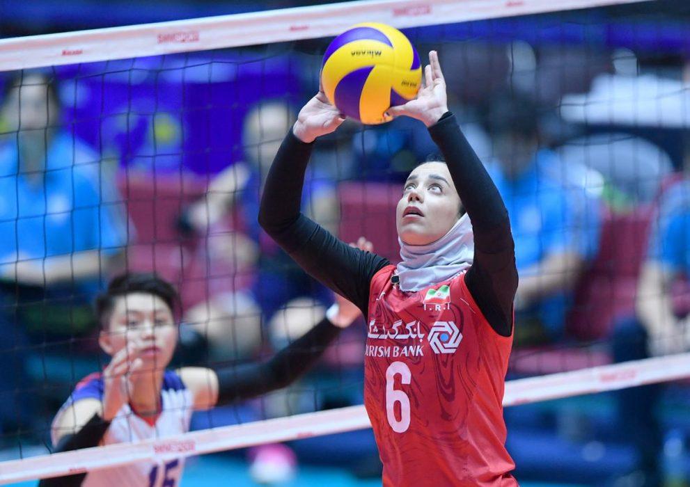 ایران چین تایپه والیبال قهرمانی زنان آسیا 13 991x700 گزارش تصویری | دیدار ایران و چین تایپه در والیبال زنان آسیا