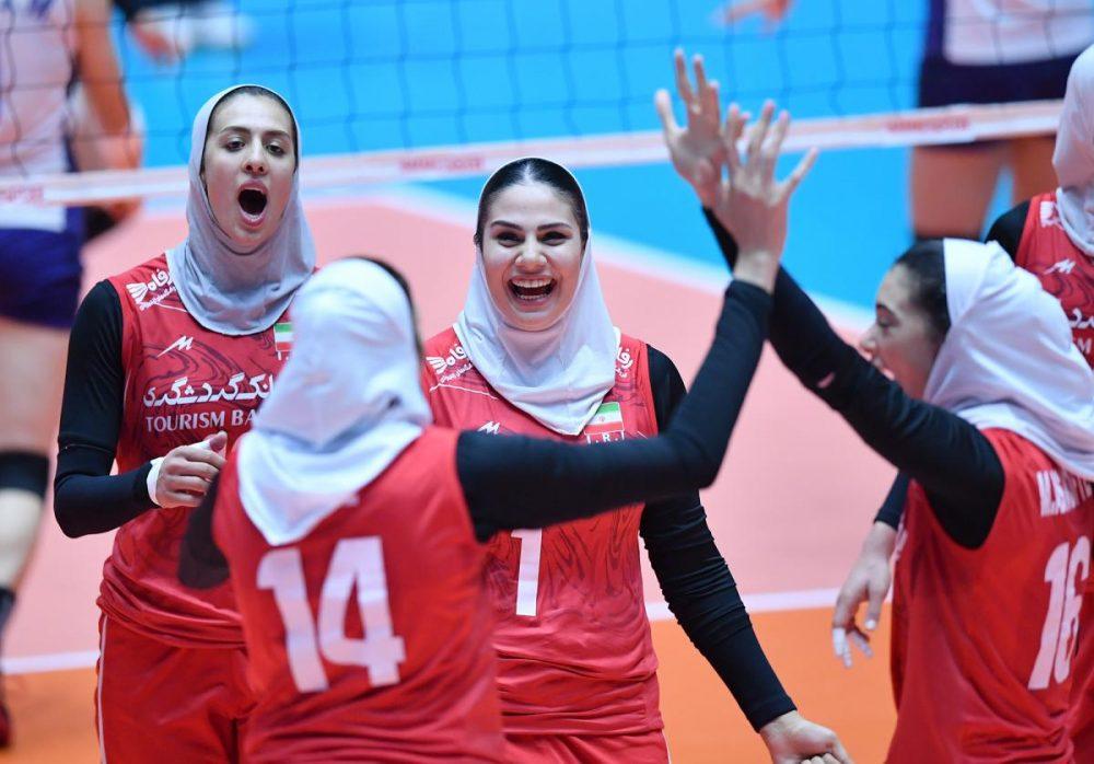 ایران چین تایپه والیبال قهرمانی زنان آسیا 15 1000x698 گزارش تصویری | دیدار ایران و چین تایپه در والیبال زنان آسیا