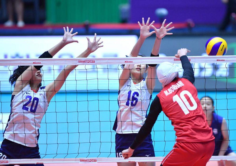 ایران چین تایپه والیبال قهرمانی زنان آسیا 2 995x700 گزارش تصویری | دیدار ایران و چین تایپه در والیبال زنان آسیا