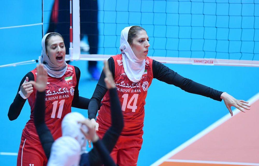 ایران چین تایپه والیبال قهرمانی زنان آسیا 6 1000x642 گزارش تصویری | دیدار ایران و چین تایپه در والیبال زنان آسیا