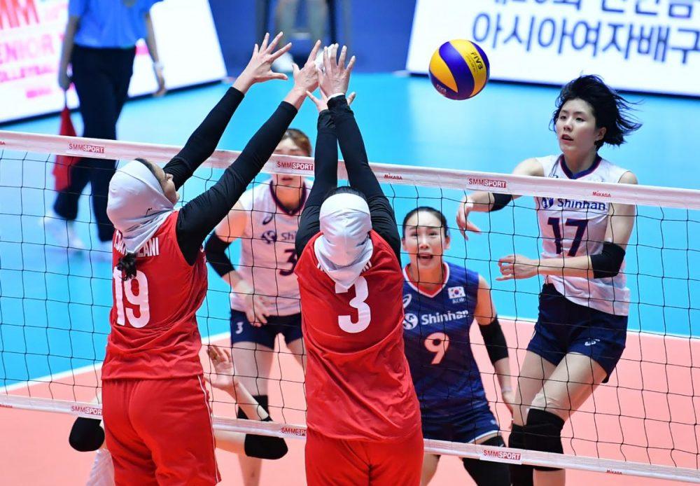 تصاویر دیدار تیم های ملی والیبال بانوان ایران و کره جنوبی 10 1000x694 گزارش تصویری دیدار والیبال بانوان ایران و کره جنوبی
