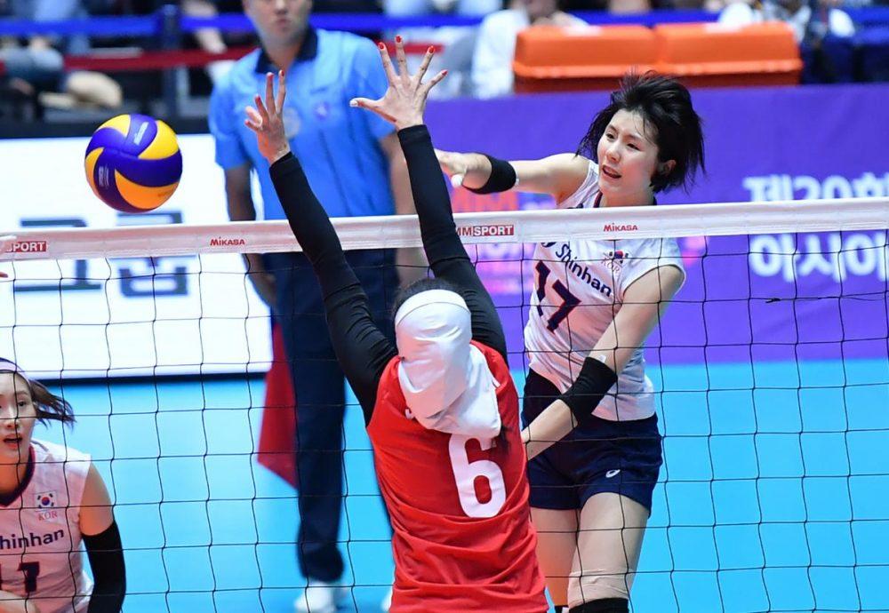 تصاویر دیدار تیم های ملی والیبال بانوان ایران و کره جنوبی 5 1000x690 گزارش تصویری دیدار والیبال بانوان ایران و کره جنوبی