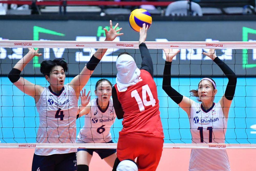 تصاویر دیدار تیم های ملی والیبال بانوان ایران و کره جنوبی 6 1000x670 گزارش تصویری دیدار والیبال بانوان ایران و کره جنوبی