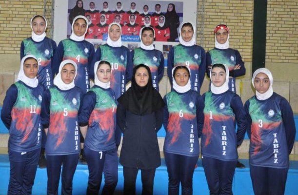 تیم کبدی آذربایجان شرقی در مسابقات جوانان دختر کشور در شیراز 611x400 تصاویر | مسابقات کبدی جوانان دختر کشور در شیراز