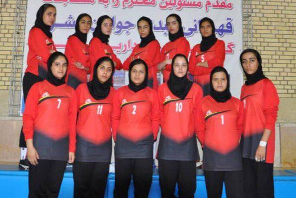 تیم کبدی اصفهان در مسابقات جوانان دختر کشور در شیراز 596x400 تصاویر | مسابقات کبدی جوانان دختر کشور در شیراز