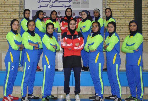 تیم کبدی سیستان و بلوچستان در مسابقات جوانان دختر کشور در شیراز 585x400 تصاویر | مسابقات کبدی جوانان دختر کشور در شیراز