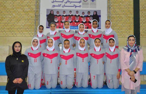 تیم کبدی کرمان در مسابقات جوانان دختر کشور در شیراز 619x400 تصاویر | مسابقات کبدی جوانان دختر کشور در شیراز