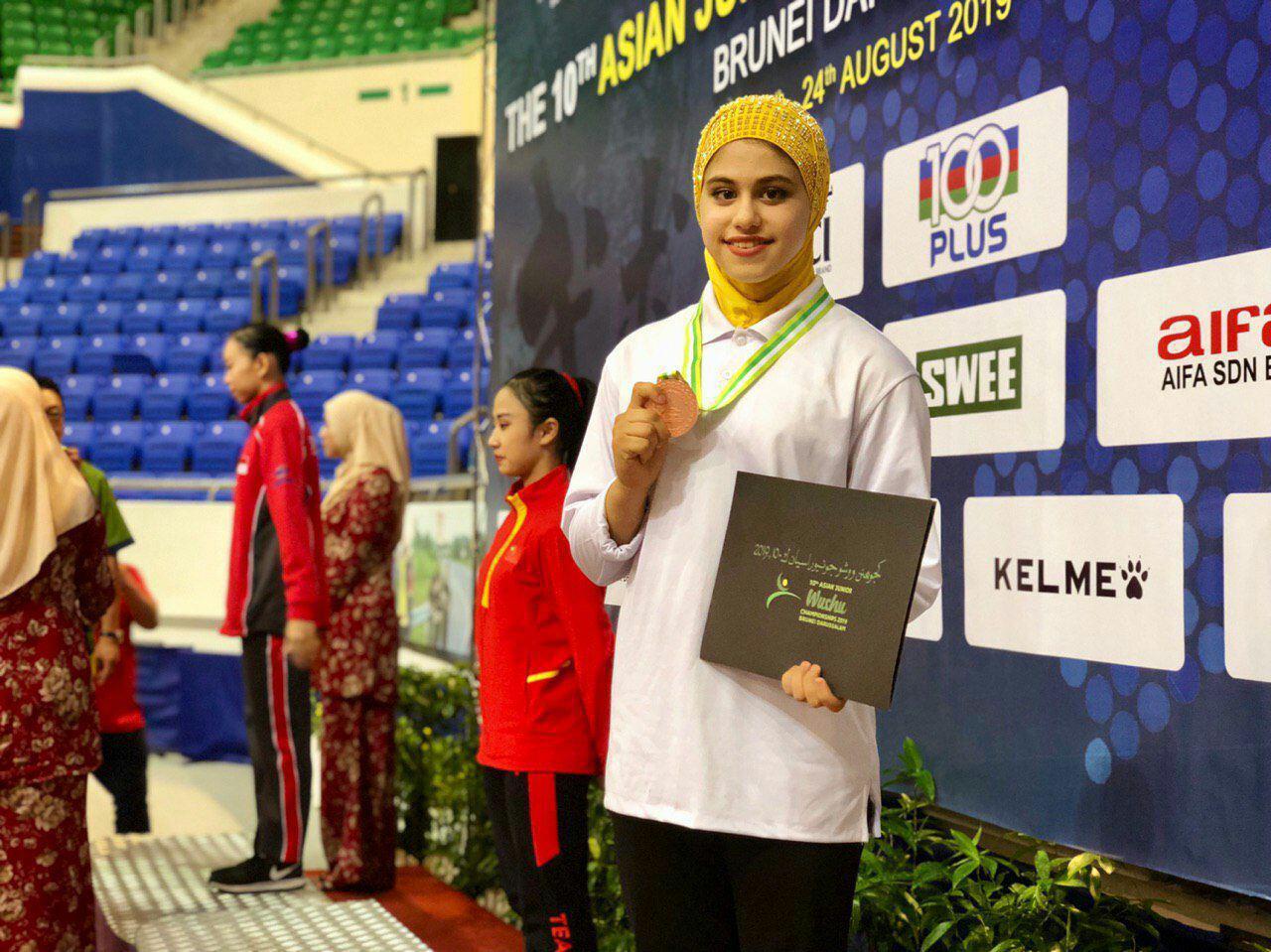روز دوم ووشوی جوانان آسیا | مدال برنز منیره پناهی و پیروزی معجزه آسای مهرآسا