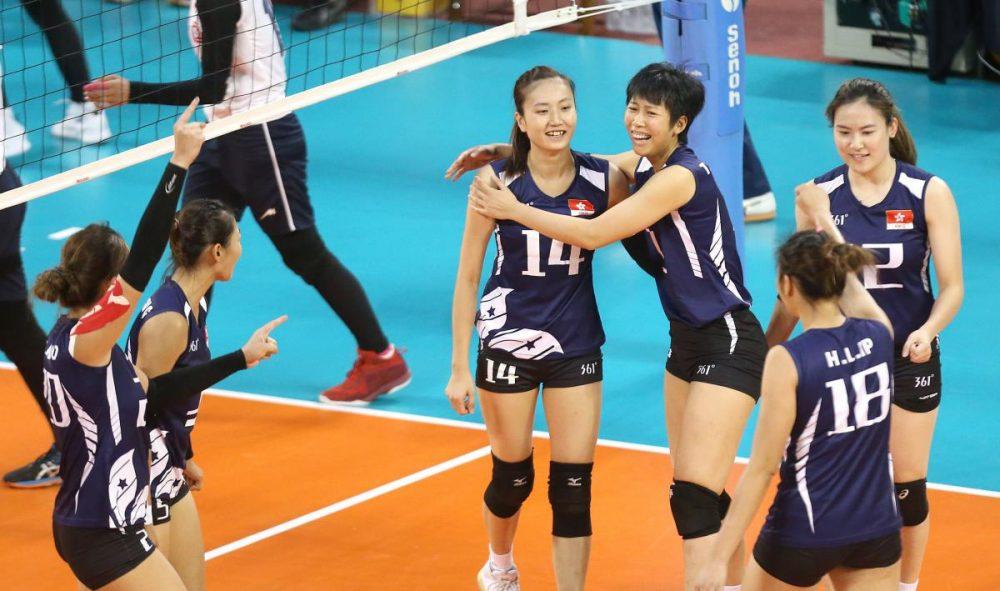 والیبال بانوان ایران و هنگ کنگ والیبال قهرمانی زنان آسیا 13 1000x591 گزارش تصویری | دیدار والیبال بانوان ایران و هنگ کنگ