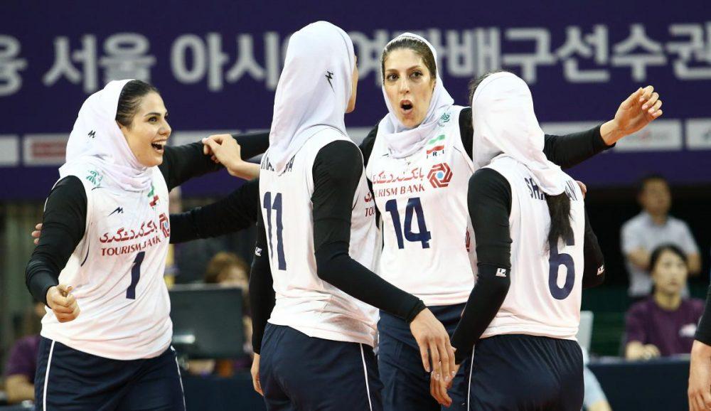 والیبال بانوان ایران و هنگ کنگ والیبال قهرمانی زنان آسیا 6 1000x578 گزارش تصویری | دیدار والیبال بانوان ایران و هنگ کنگ
