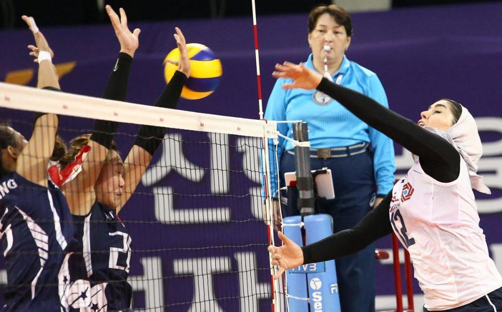 والیبال بانوان ایران و هنگ کنگ والیبال قهرمانی زنان آسیا 7 1000x623 گزارش تصویری | دیدار والیبال بانوان ایران و هنگ کنگ