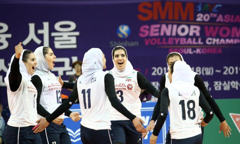 والیبال بانوان ایران و هنگ کنگ والیبال قهرمانی زنان آسیا 8 1000x599 گزارش تصویری | دیدار والیبال بانوان ایران و هنگ کنگ