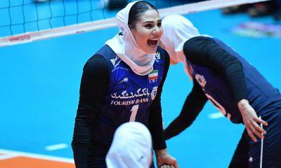 والیبال زنان آسیا ایران و تایلند 7 400x240 گزارش تصویری | دیدار تیم های ایران و تایلند در والیبال زنان آسیا