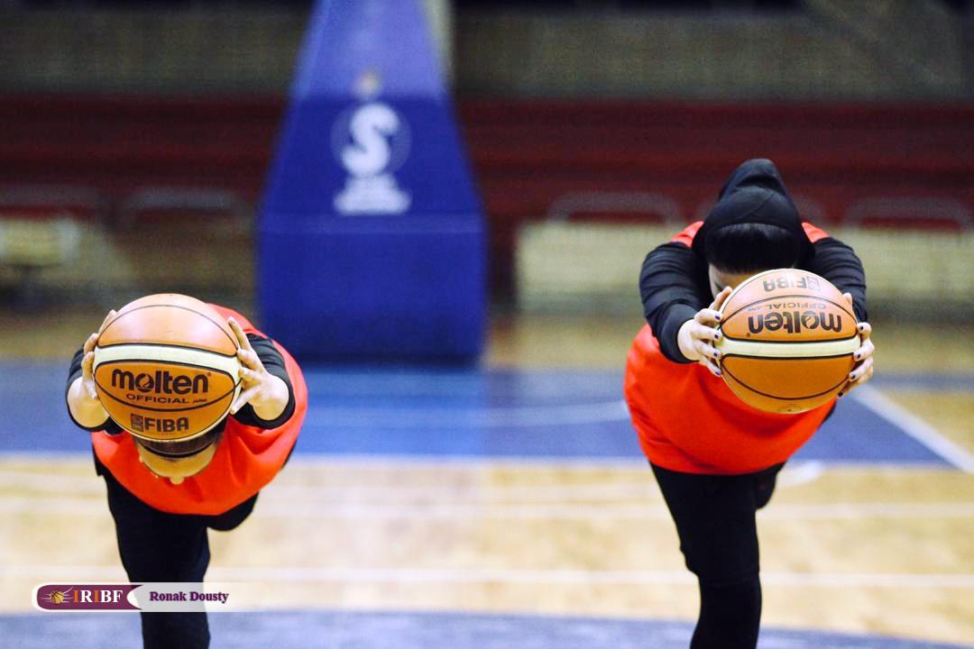 3 گزارش تصویری|تمرینات آماده سازی تیم ملی بسکتبال 5 نفره زنان