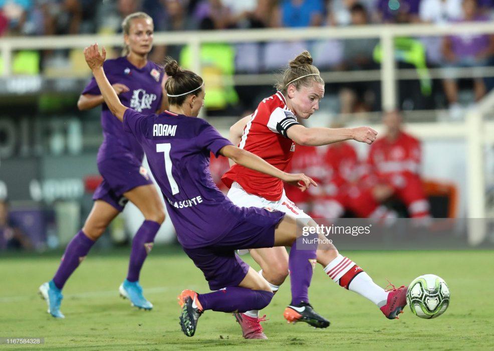 آرسنال فیورنتینا فوتبال زنان لیگ قهرمانان اروپا 3 986x700 گزارش تصویری | دیدار تیمهای آرسنال و فیورنتینا در لیگ قهرمانان زنان
