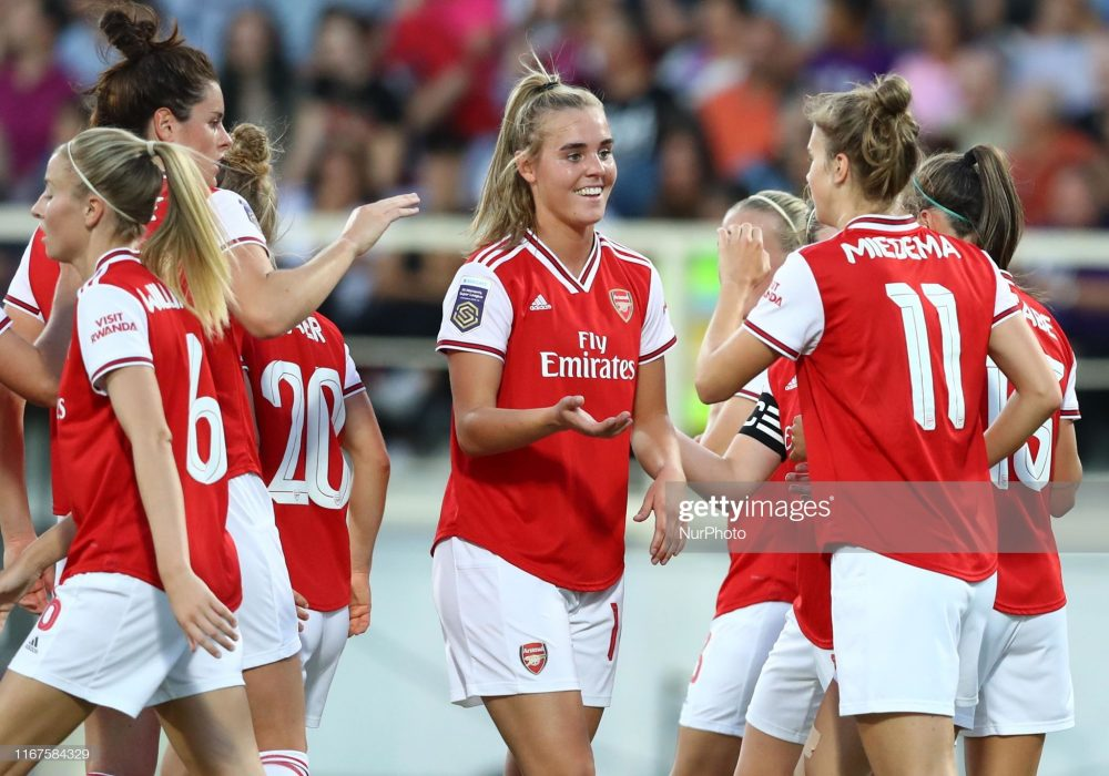 آرسنال فیورنتینا فوتبال زنان لیگ قهرمانان اروپا 4 1000x700 گزارش تصویری | دیدار تیمهای آرسنال و فیورنتینا در لیگ قهرمانان زنان