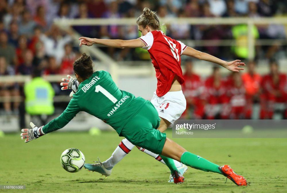 آرسنال فیورنتینا فوتبال زنان لیگ قهرمانان اروپا 7 1000x673 گزارش تصویری | دیدار تیمهای آرسنال و فیورنتینا در لیگ قهرمانان زنان