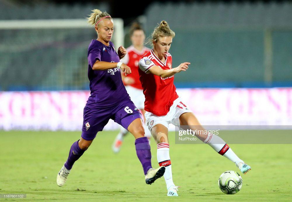 آرسنال فیورنتینا فوتبال زنان لیگ قهرمانان اروپا 8 1000x693 گزارش تصویری | دیدار تیمهای آرسنال و فیورنتینا در لیگ قهرمانان زنان