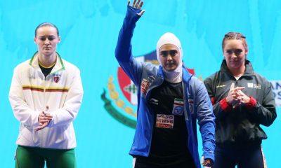 ابریشم ارجمندخواه 1 400x240 تصاویر حضور ابریشم ارجمندخواه در مسابقات وزنه برداری قهرمانی جهان