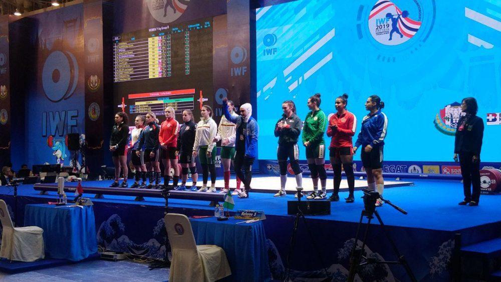 ابریشم ارجمند خواه 1000x564 تصاویر حضور ابریشم ارجمندخواه در مسابقات وزنه برداری قهرمانی جهان