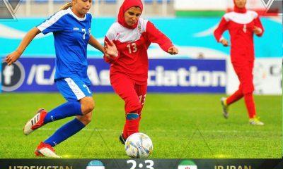 ایران ازبکستان فوتبال دختران زیر 15 سال کافا 400x240 مسابقات فوتبال زیر ۱۵ سال آسیای مرکزی | قهرمانی ایران با ۳ برد پیاپی