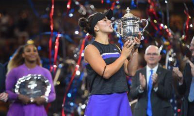 بیانکا ونسا آندرسکو فاتح تنیس گرندالسم آمریکا 400x240 تنیس آزاد آمریکا | تاریخ سازی دختر ۱۹ ساله کانادایی با شکست سرنا ویلیامز در فینال