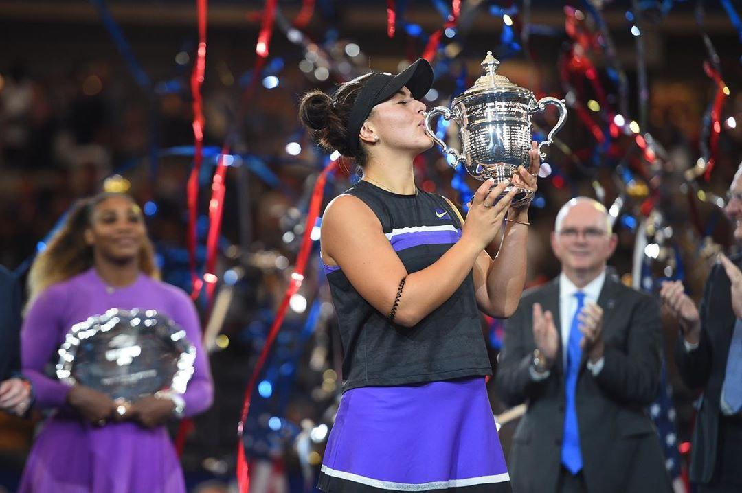 تنیس آزاد آمریکا | تاریخ سازی دختر ۱۹ ساله کانادایی با شکست سرنا ویلیامز در فینال