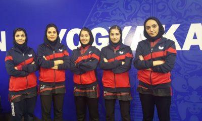 تیم ملی تنیس روی میز بانوان 400x240 تنیس روی میز قهرمانی آسیا | پیروزی دختران ایران برابر نپال و ماکائو