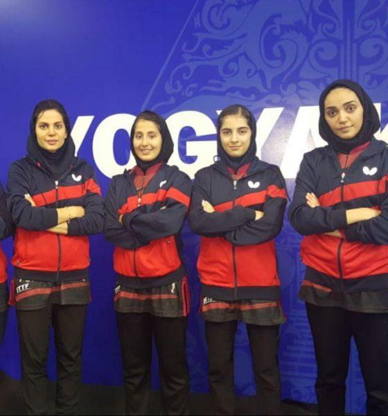 تیم ملی تنیس روی میز بانوان 560x600 تنیس روی میز قهرمانی آسیا | پیروزی دختران ایران برابر نپال و ماکائو