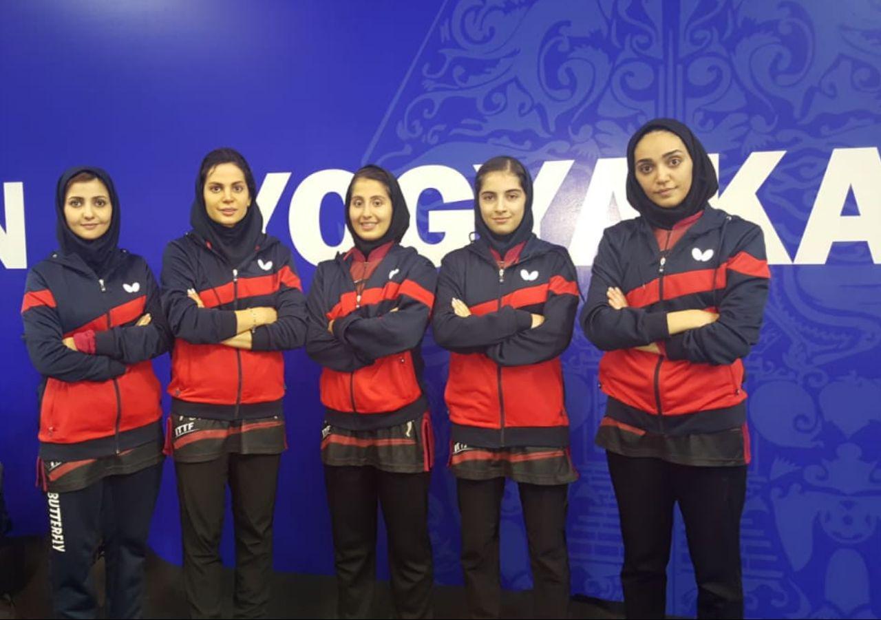 تنیس روی میز قهرمانی آسیا | پیروزی دختران ایران برابر نپال و ماکائو