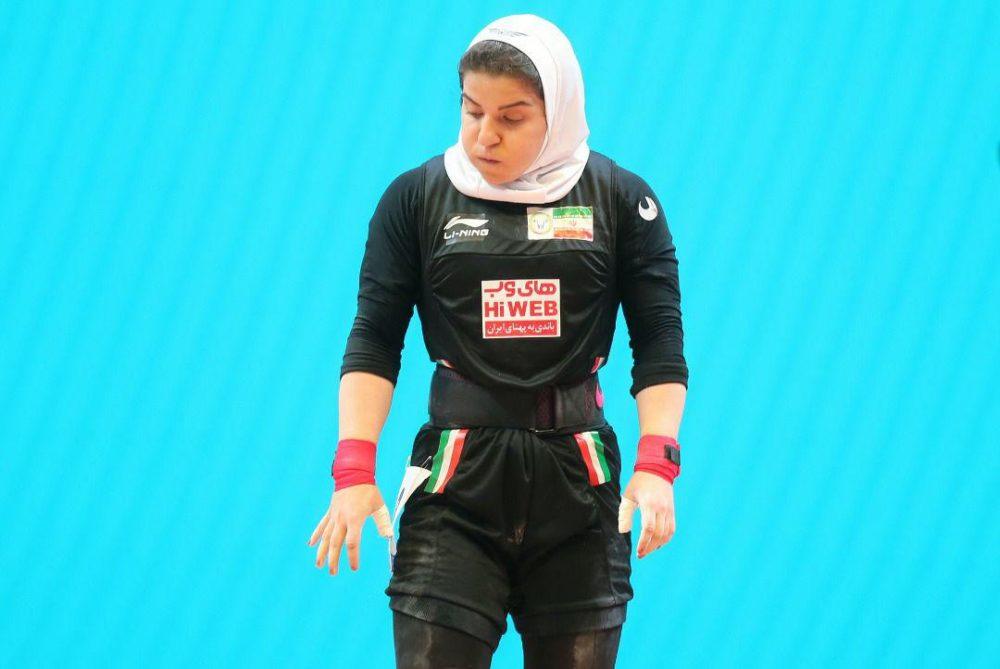 حضور پوپک بسامی در مسابقات جهانی وزنه برداری 1000x669 تصاویر حضور پوپک بسامی در مسابقات وزنه برداری قهرمانی جهان