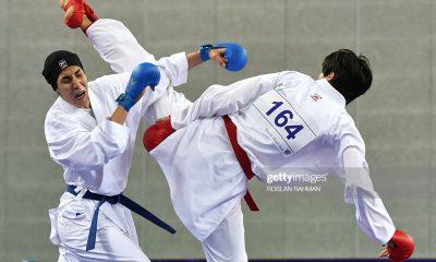 حمیده عباسعلی کاراته کای ایرانی 400x240 کاراته وان توکیو | حذف تلخ حمیده عباسعلی به دست کاراته کای جوان یونانی