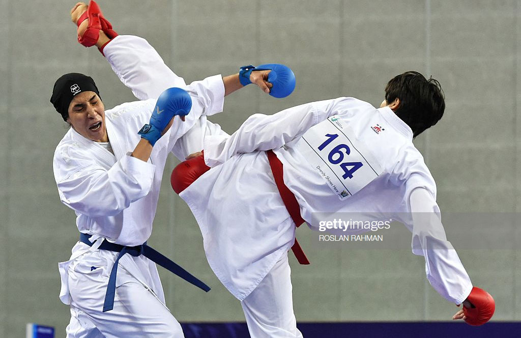 حمیده عباسعلی کاراته کای ایرانی کاراته وان توکیو   حذف تلخ حمیده عباسعلی به دست کاراته کای جوان یونانی