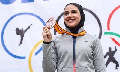 سارا بهمنیار و کسب مدال در لیگ جهانی کاراته 400x240 سارا بهمنیار صاحب مدال برنز کاراته وان دوبی شد