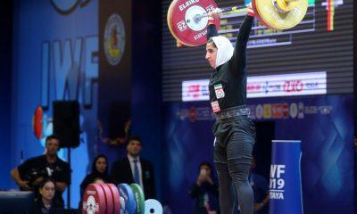 سیده الهام حسینی 4 400x240 وزنه برداری قهرمانی جهان | سیده الهام حسینی به رتبه شانزدهم بسنده کرد