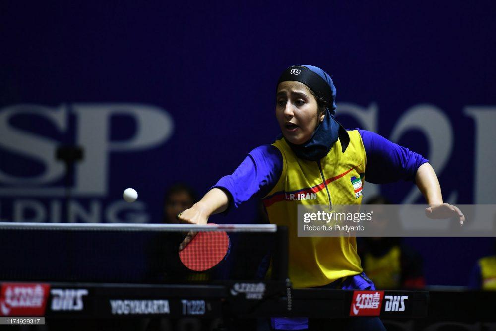 فاطمه جمالی فر در مسابقات تنیس روی میز قهرمانی آسیا 1 1000x667 گزارش تصویری | فاطمه جمالی فر در مسابقات تنیس روی میز قهرمانی آسیا