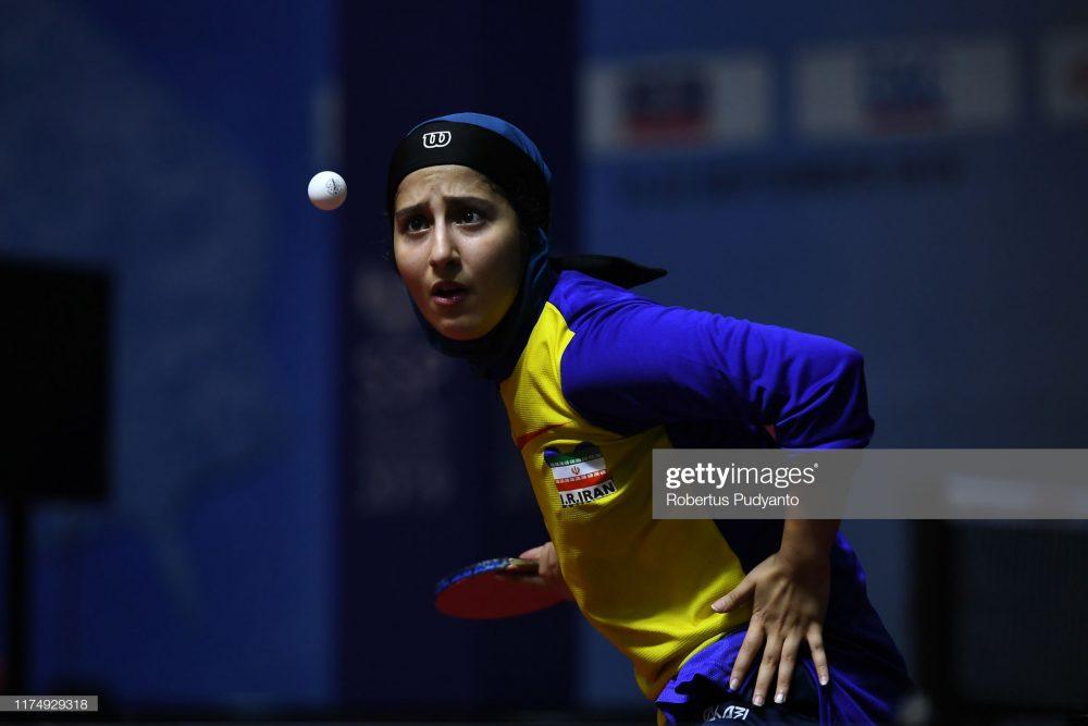 فاطمه جمالی فر در مسابقات تنیس روی میز قهرمانی آسیا 2 1000x667 گزارش تصویری | فاطمه جمالی فر در مسابقات تنیس روی میز قهرمانی آسیا