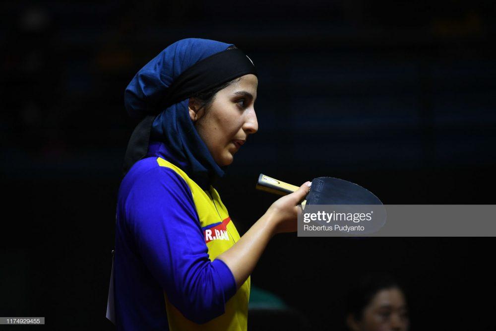فاطمه جمالی فر در مسابقات تنیس روی میز قهرمانی آسیا 6 1000x667 گزارش تصویری | فاطمه جمالی فر در مسابقات تنیس روی میز قهرمانی آسیا