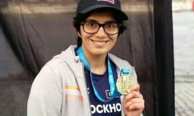 هدی فریدونی دونده مقیم سوئد 400x240 هدی فریدونی ؛ دوندهای که با پرچم ایران در ماراتن استکهلم مدال گرفت