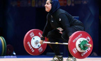 پریسا جهان فکریان 2 400x240 وزنه برداری قهرمانی جهان | پریسا جهان فکریان رکوردهای ملی را بهبود بخشید