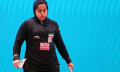 پریسا جهان فکریان 4 400x240 پریسا جهان فکریان و الهام حسینی در مسابقات وزنه برداری قطر هفتم و نهم شدند