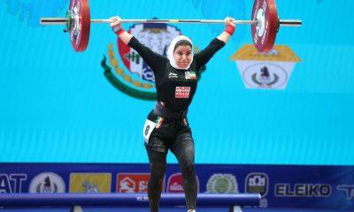 پوپک بسامی اولین دختر وزنه بردار ایران در مسابقات جهانی 400x240 وزنه برداری قهرمانی جهان | پوپک بسامی ۲ رکورد ملی را جابجا کرد