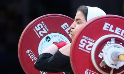 پوپک بسامی در مسابقات وزنه برداری قهرمانی جهان 400x240 ایران شانسی برای کسب سهمیه المپیک در وزنه برداری زنان ندارد